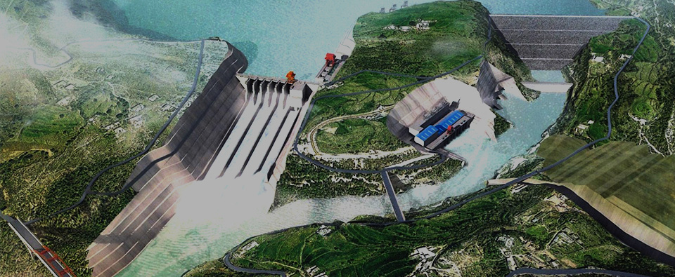 Pakistan. Karot Hydropower Station
